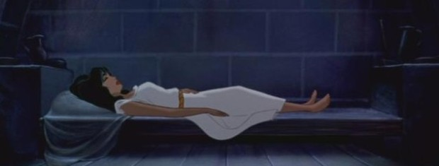 Pff, she's fine. Just needs a bit 'a prince kissin'.