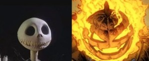 """Jack the Pumpkin king, who has the word ""pumpkin"" in his name, does not have a pumpkin for a head. But Jack O'Lantern, who does not have the word ""pumpkin"" in his name, has a pumpkin for a head. Discuss."""