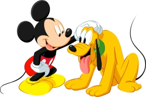 The only other explanation is that Pluto is Mickey's gimp.