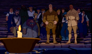 Those brave men and women gave their lives so that the animators would not have to do any large crowd scenes.