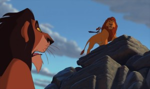 """Mufasa! Stampede! In the gorge! Kenai's down there!"""