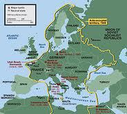 Sarcastic Map of Wartime Europe