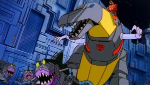 "For someone who begins every sentence with ""Me Grimlock!"" he is a surprisingly eloquent orator."