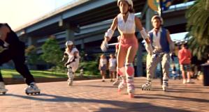 Look! Rollerblading!