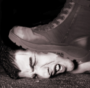 That is the future of the human race. A boot stamping a human face. For, like, a few years. Then everything's rosy.