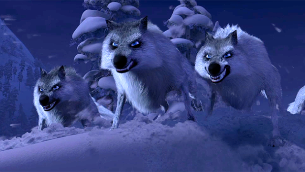 Wolves frozen