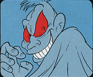 And then the comic revealed that he was apparently a grinch. Named Baron Von Rotten. *Cough*