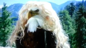 "The eagle disguised itself as Galdalf s wife and slipped him a file during a ""conjugal visit""."