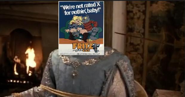 Fritz sitting down
