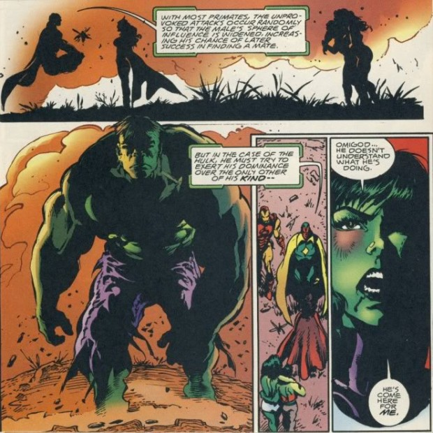 We do not speak of the time Hulk tried to bang his cousin.
