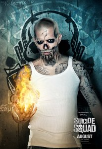 Jay Hernandez as El Diablo Crime: Is Racist Caricature Punishment : Can only wear wife-beater, has dead wife for motivation