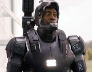 You stole that suit Rhodey. You're a stealer. And that's a rock fact.